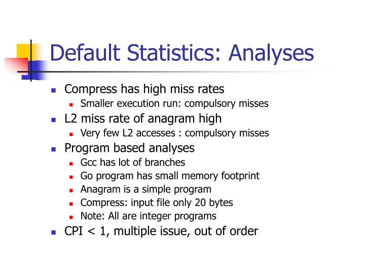 Default statistics analyses3