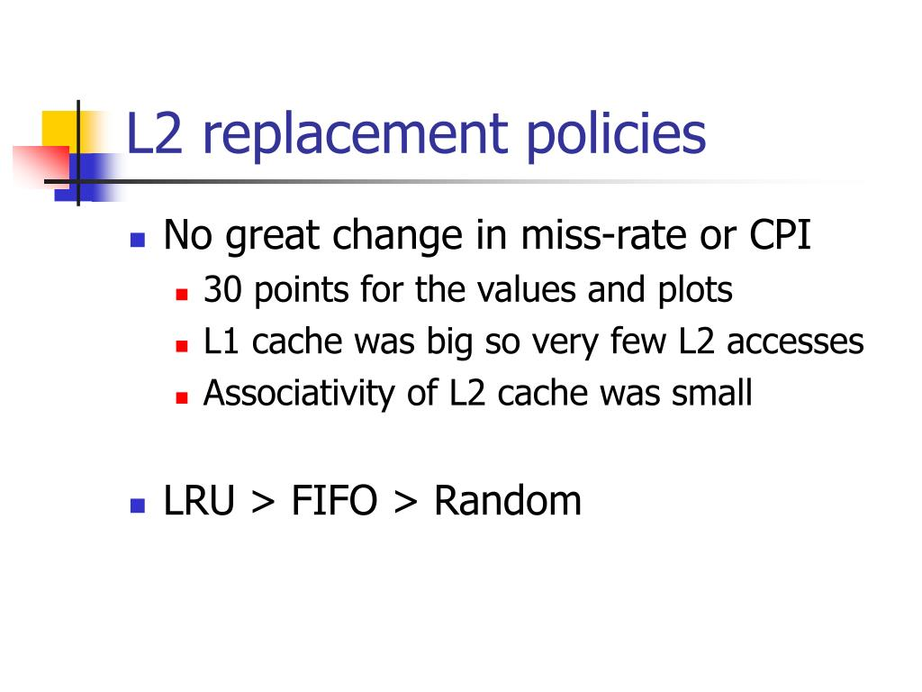 L2 replacement policies