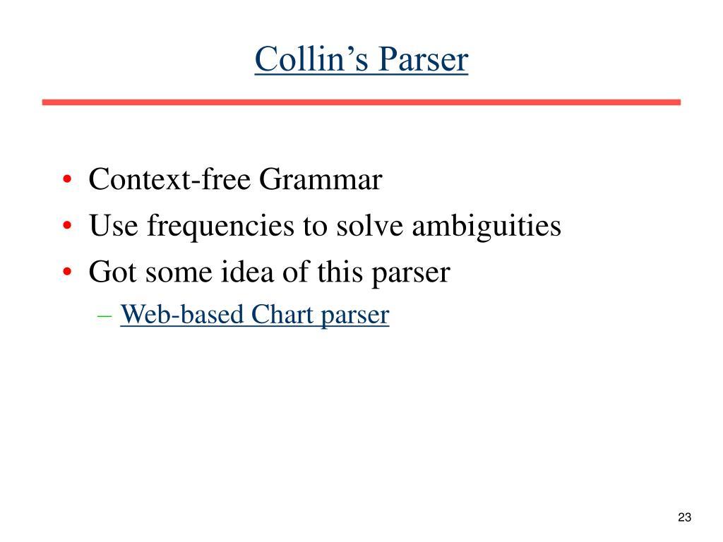 Collin's Parser