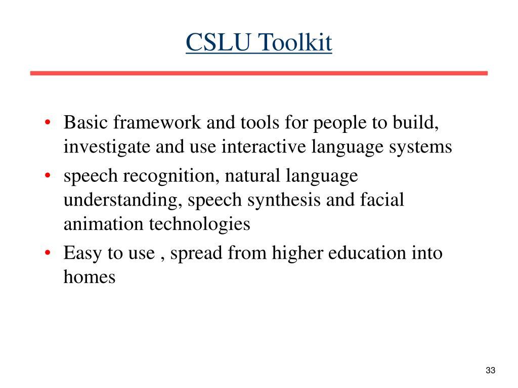 CSLU Toolkit