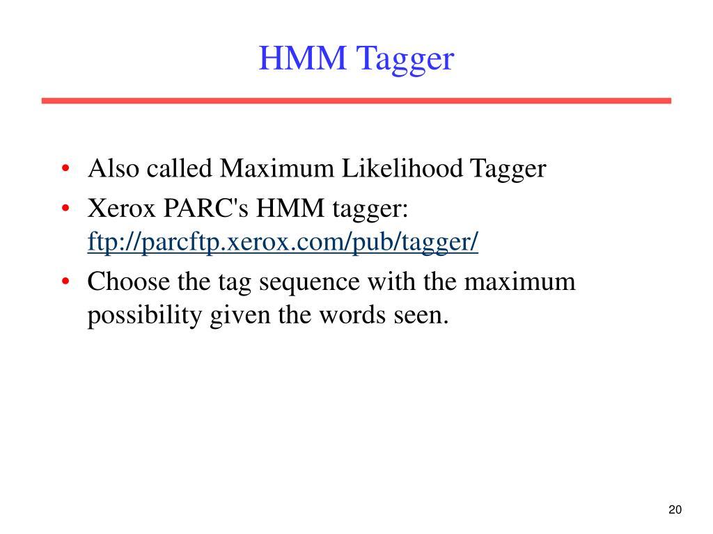 HMM Tagger