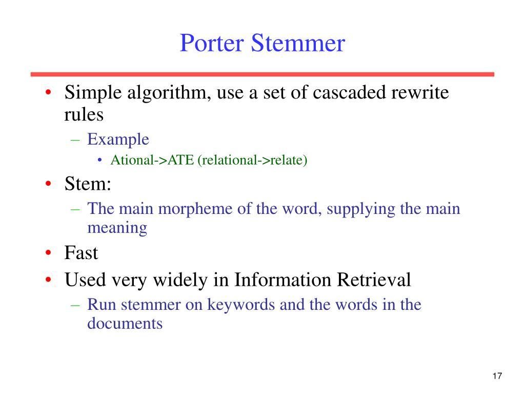 Porter Stemmer