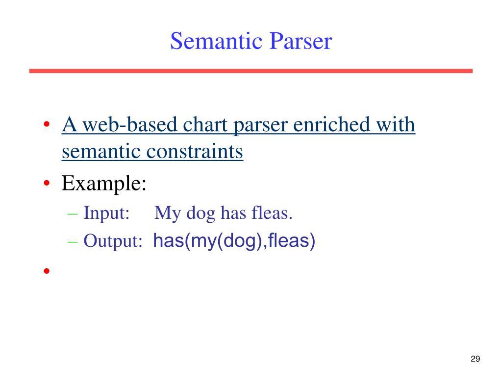 Semantic Parser