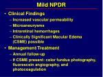mild npdr