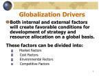 globalization drivers