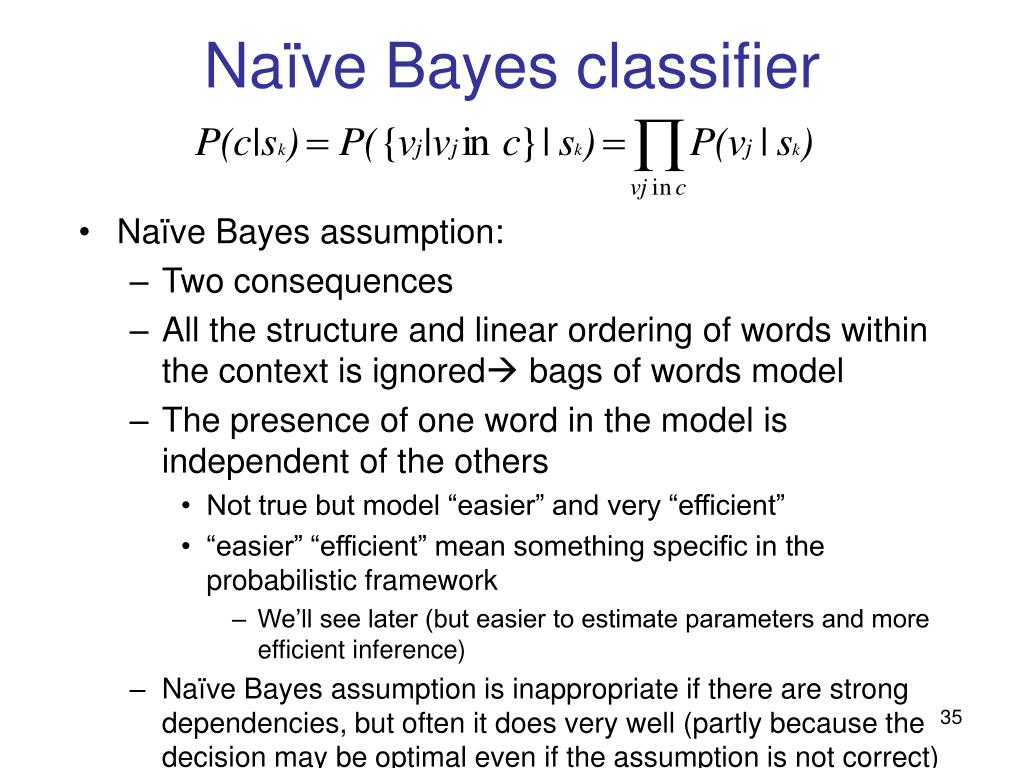 Naïve Bayes classifier