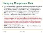 company compliance unit
