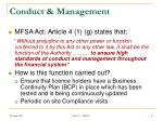 conduct management