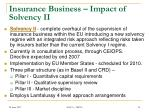 insurance business impact of solvency ii