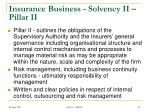 insurance business solvency ii pillar ii