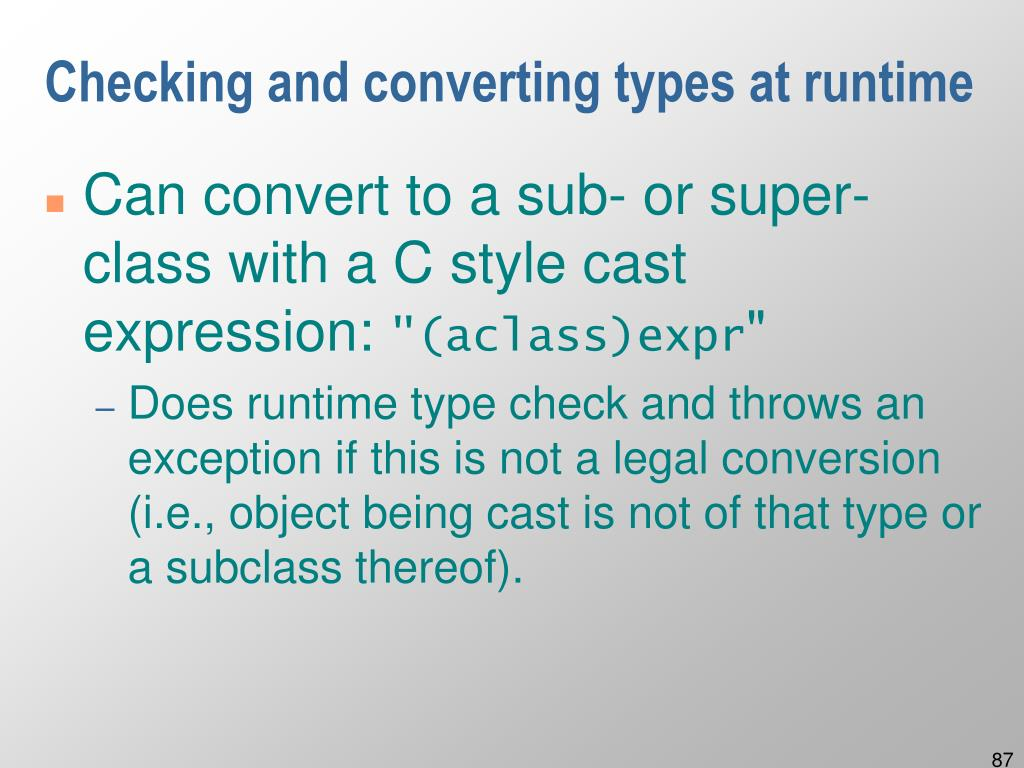 Checking and converting types at runtime