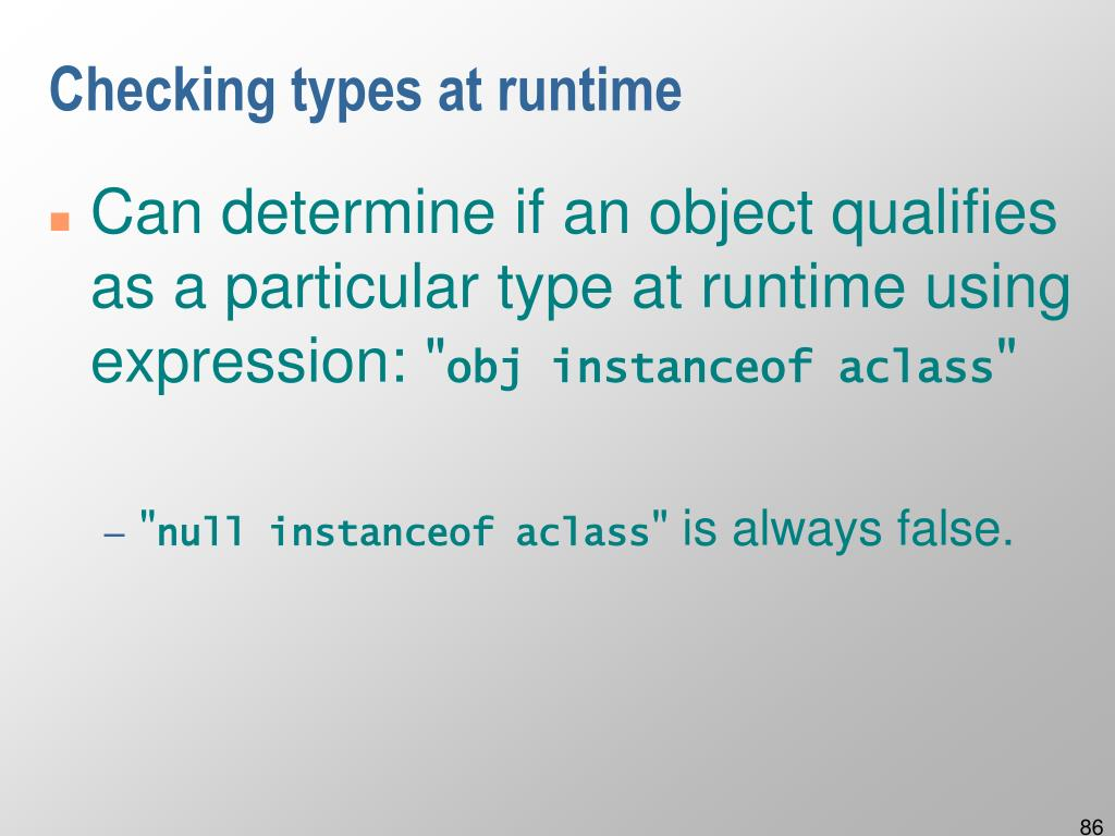 Checking types at runtime