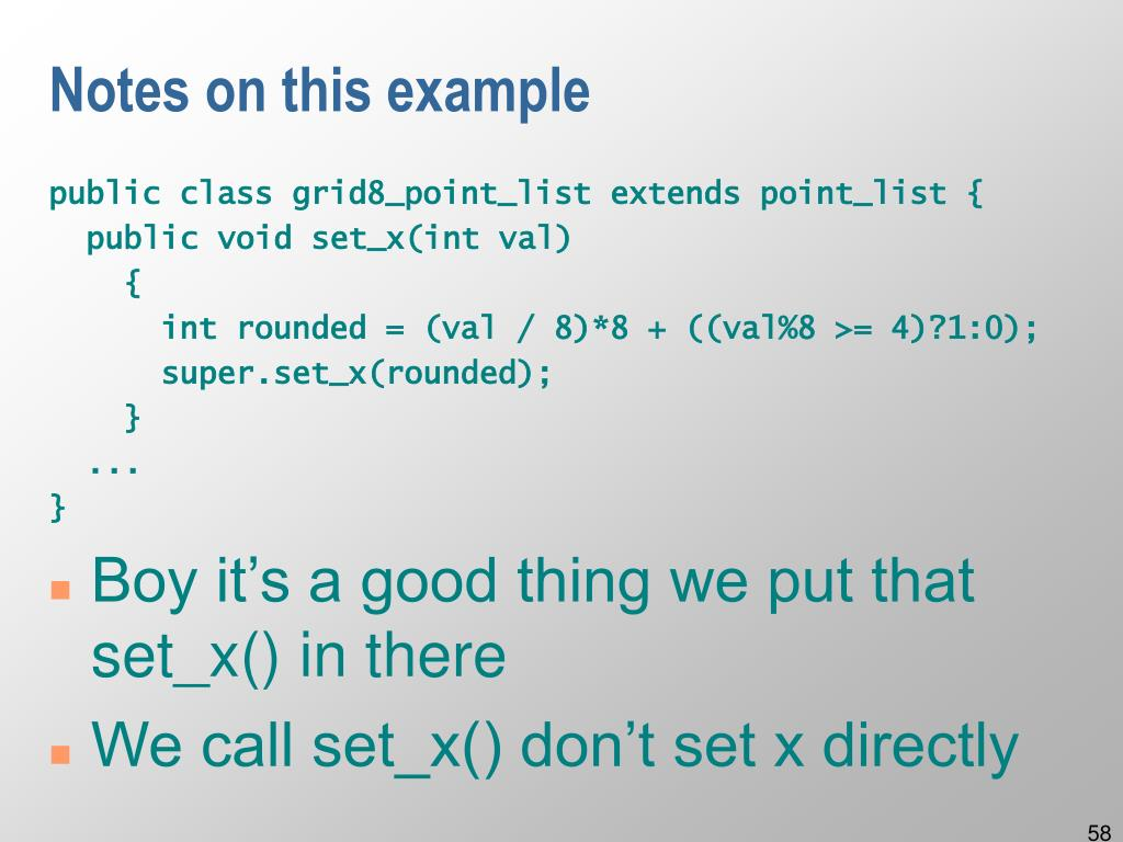 Notes on this example