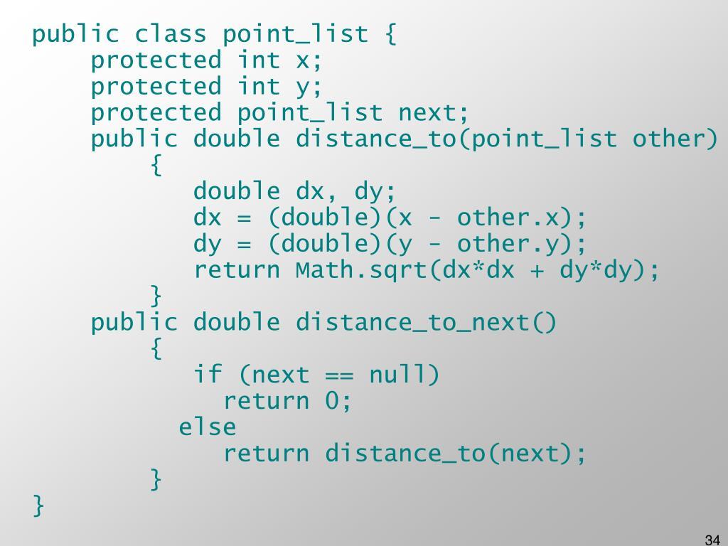 public class point_list {