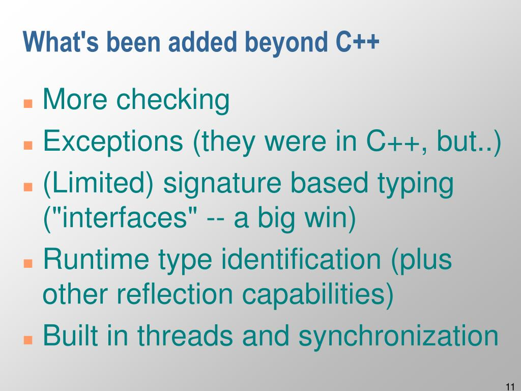 What's been added beyond C++