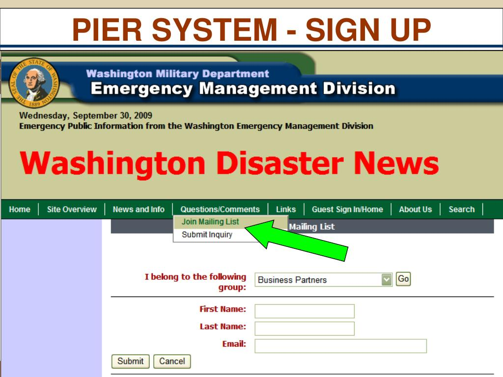 PIER SYSTEM - SIGN UP
