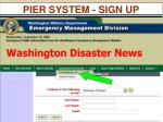 pier system sign up