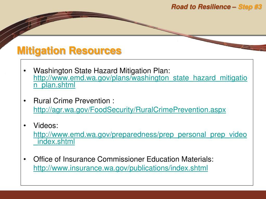 Washington State Hazard Mitigation Plan: