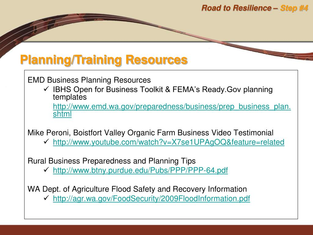 EMD Business Planning Resources