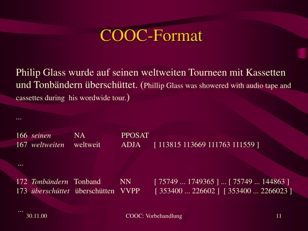 COOC-Format