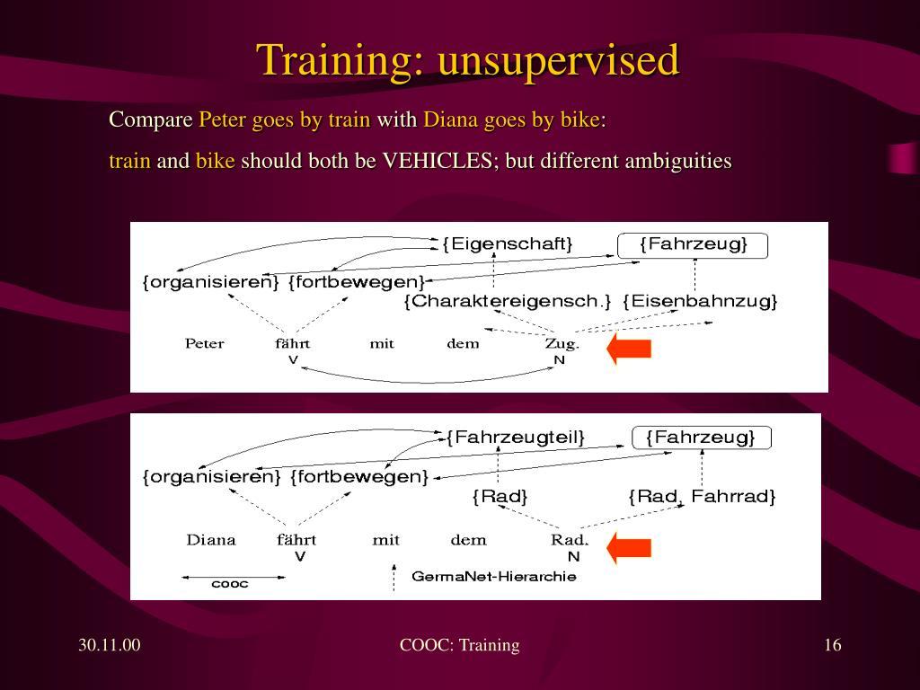 Training: unsupervised