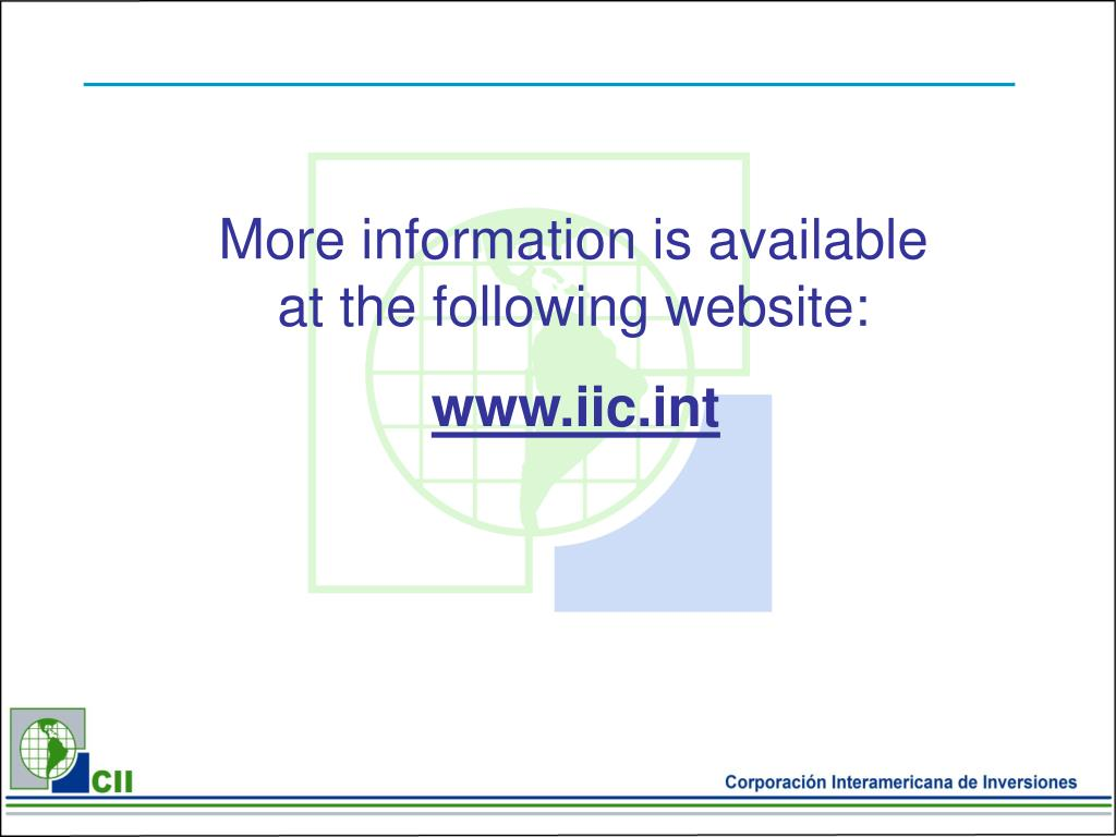 More information is available at the following website: