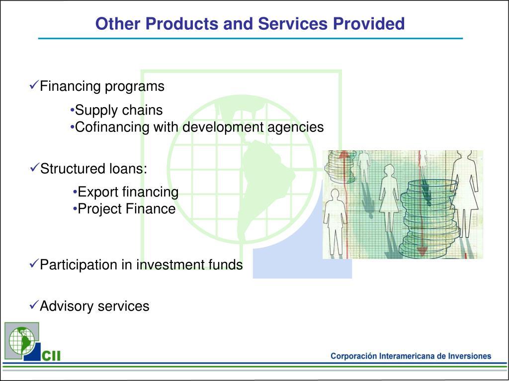 Financing programs
