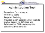 administration tool