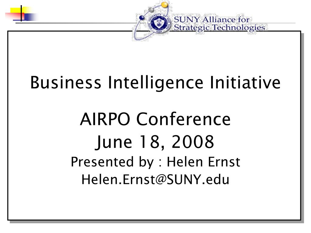 business intelligence initiative l.