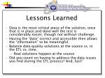 lessons learned23