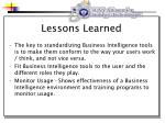 lessons learned28
