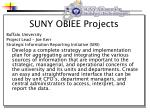 suny obiee projects