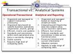 transactional vs analytical systems