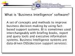 what is business intelligence software