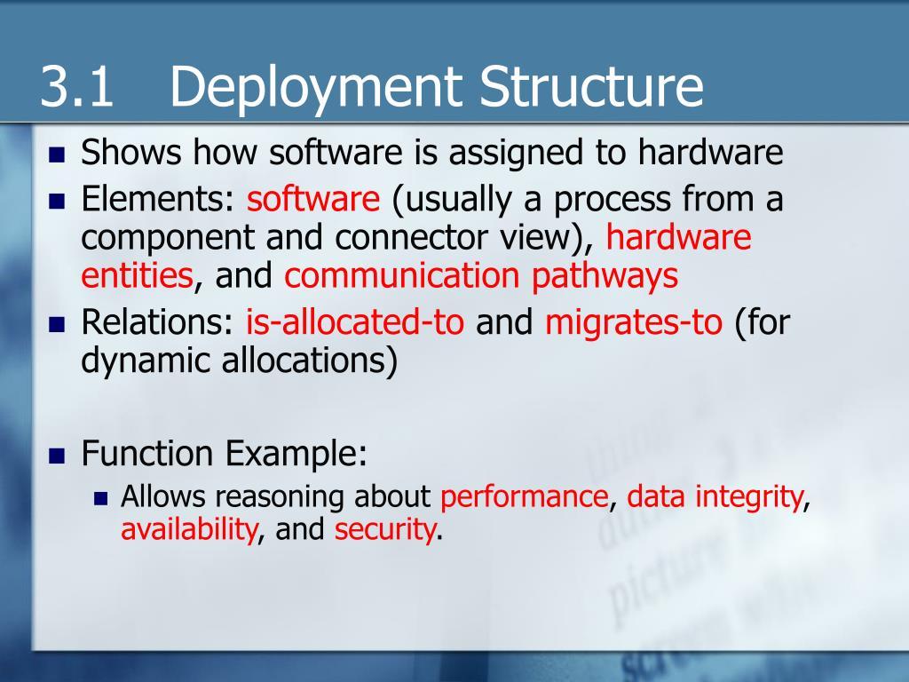 3.1   Deployment Structure