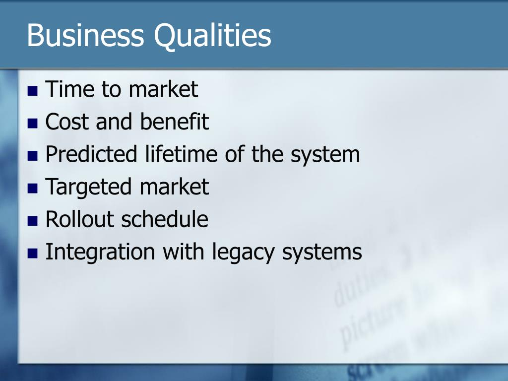Business Qualities