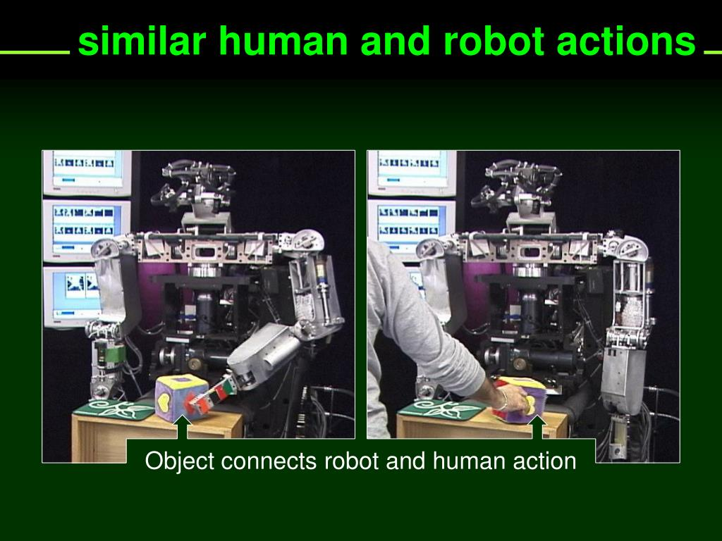 similar human and robot actions