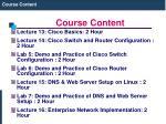 course content5