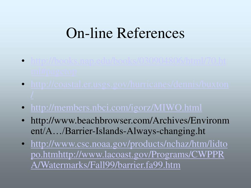On-line References