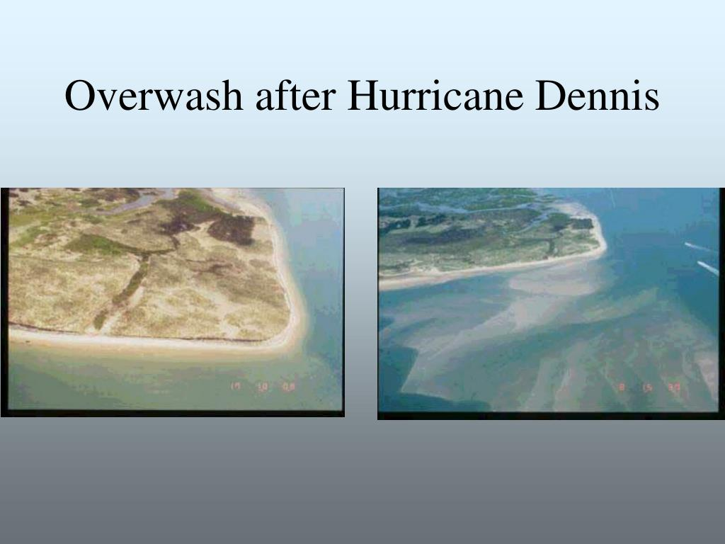 Overwash after Hurricane Dennis