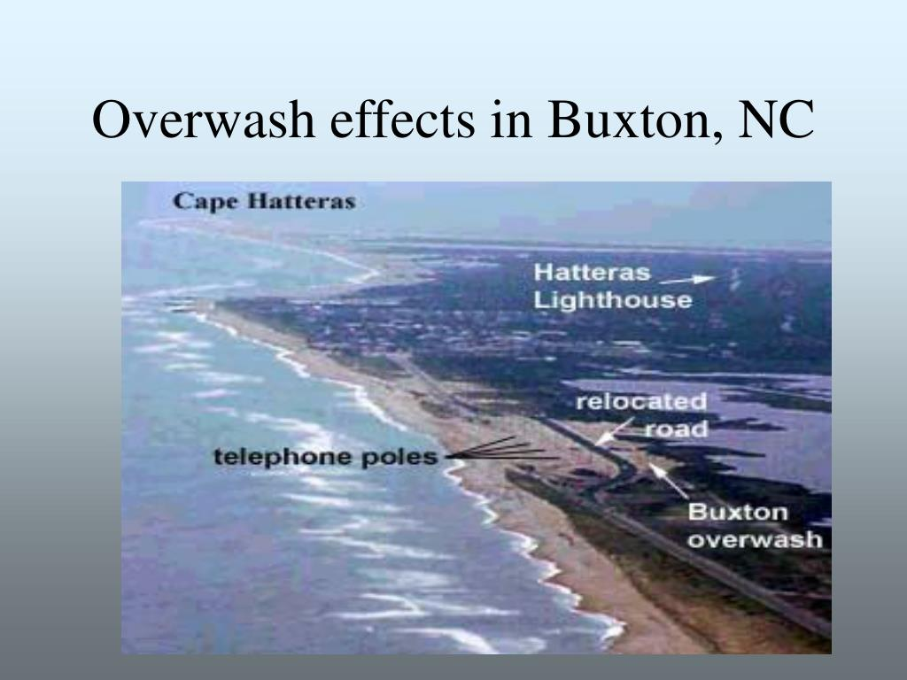 Overwash effects in Buxton, NC