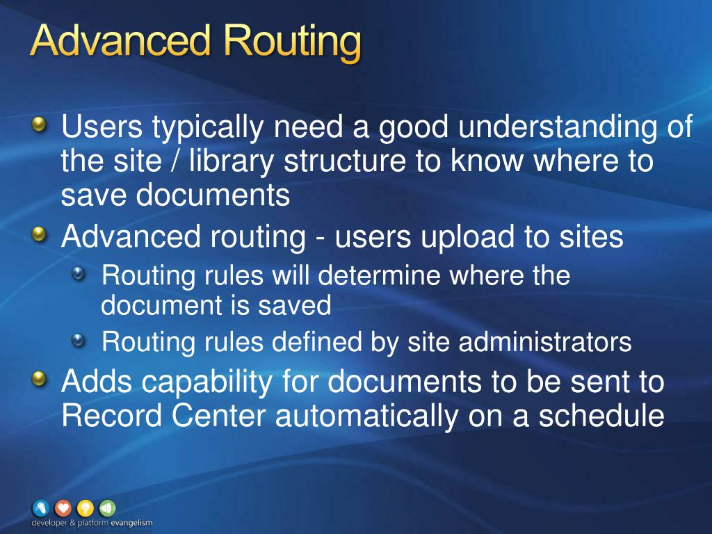 Advanced Routing