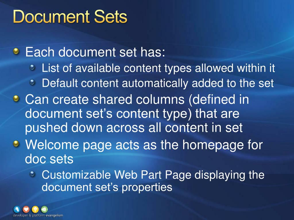 Document Sets