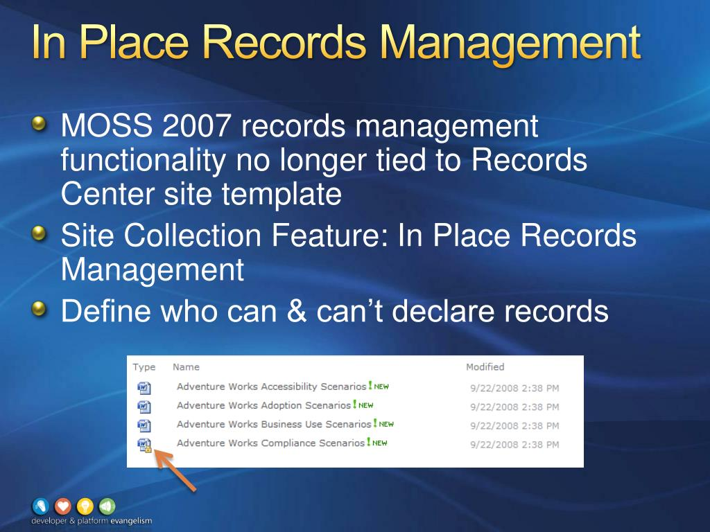 In Place Records Management