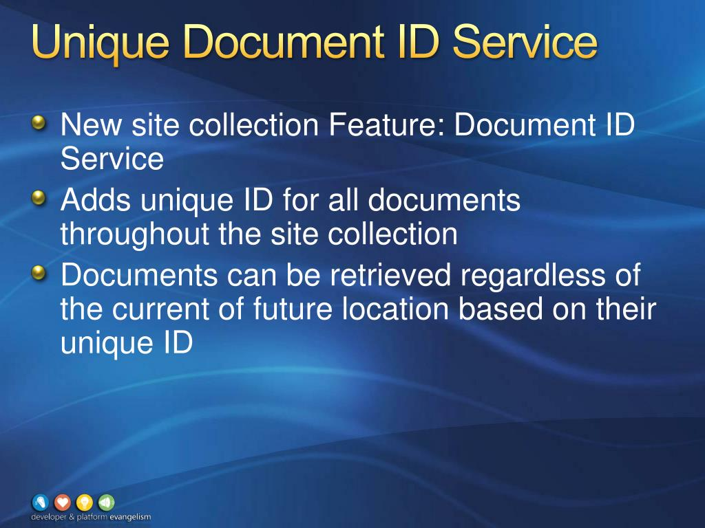 Unique Document ID Service