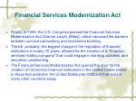 financial services modernization act