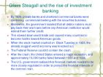 glass steagall and the rise of investment banking