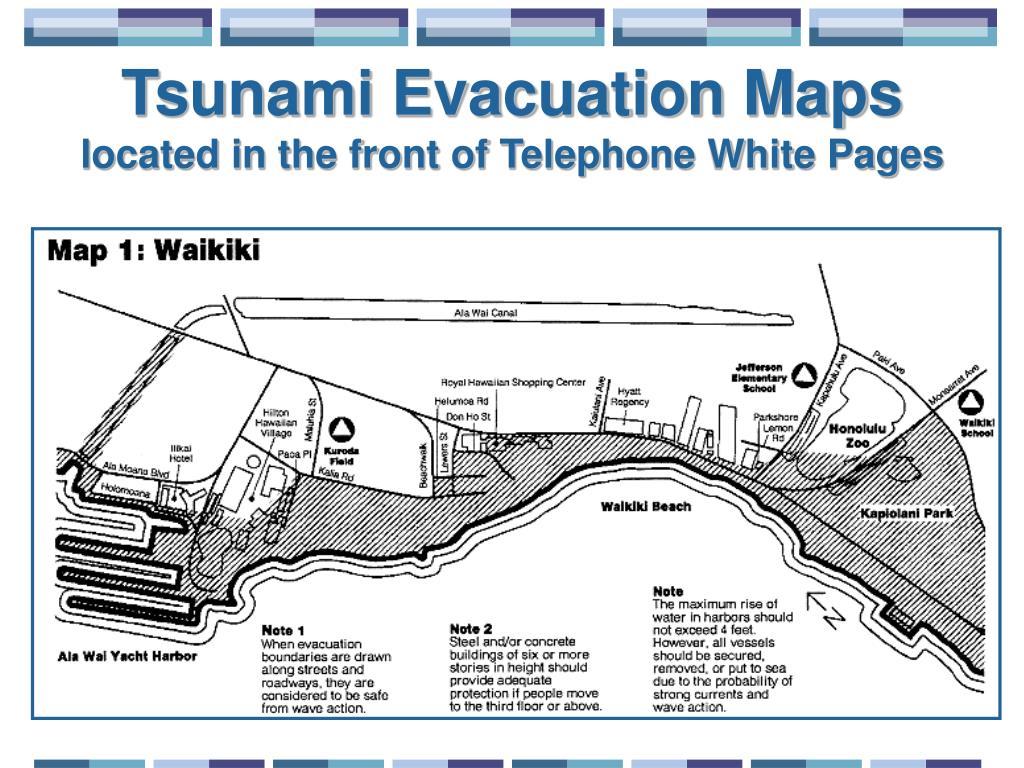 Tsunami Evacuation Maps