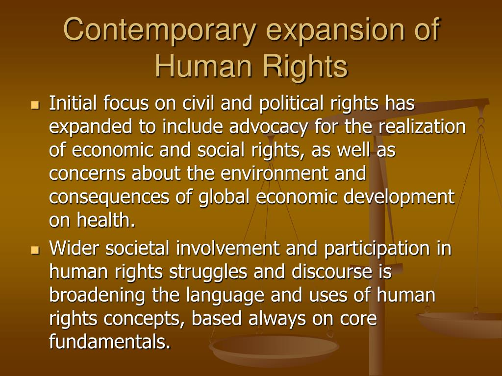 Contemporary expansion of Human Rights
