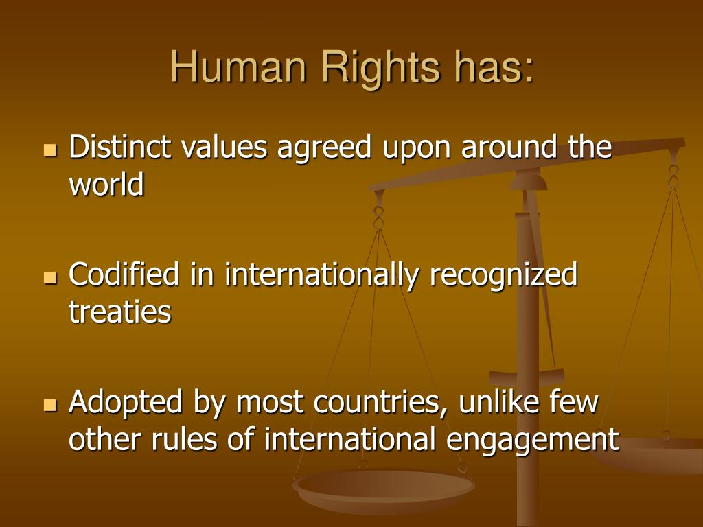 Human Rights has:
